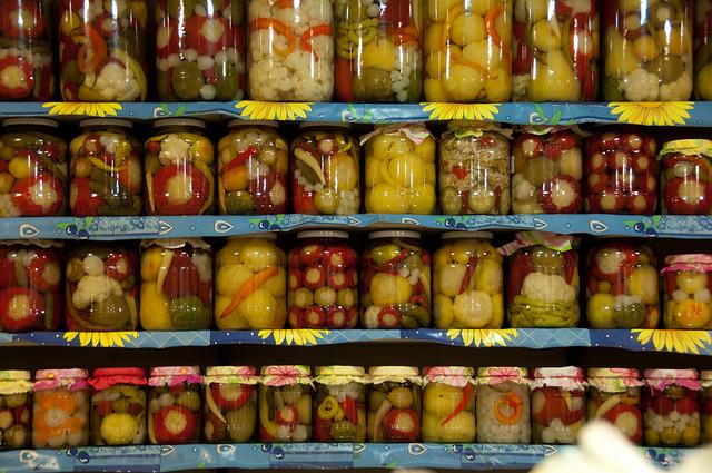Great Market Hall Budapest Pickles Vendor