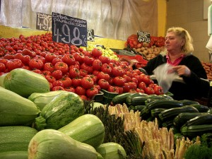 Great Market Hall Budapest Vegetable Vendor