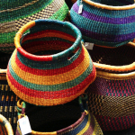 Colorful African Basket