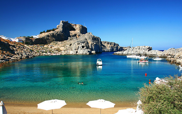 Lindos Sea Greece Tourism
