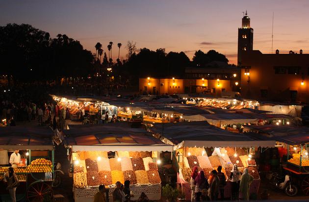 Market Square Marrakech Morocco Martin Fisch