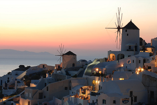 Santorini Sunset Greece Marcel Germain
