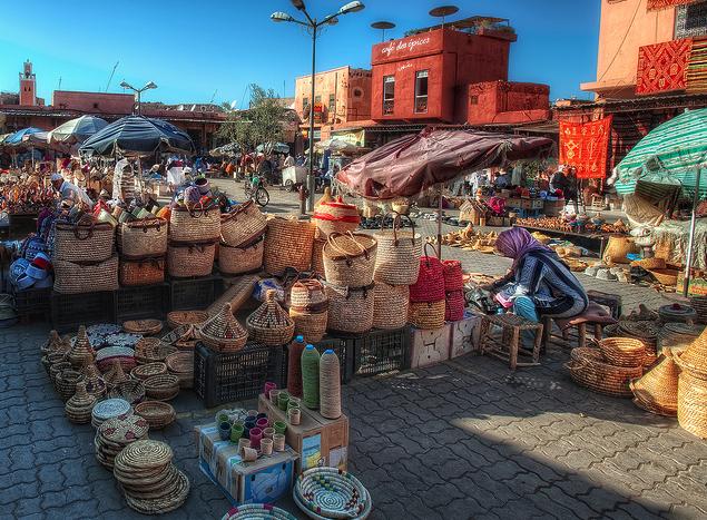 Street Market Marrakesh Morocco