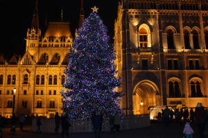 Budapest Christmas by Parliament