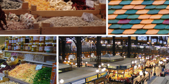 Budapest Central Market Hall Montage