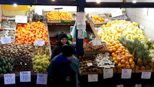 Budapest City Centre & Great Market Hall Tour & Tasting Vegetables Stand